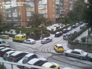 Granizada en Madrid. Imagen: David Bernáldez