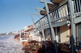 Temporal en la costa de California durante El Niño de 1997