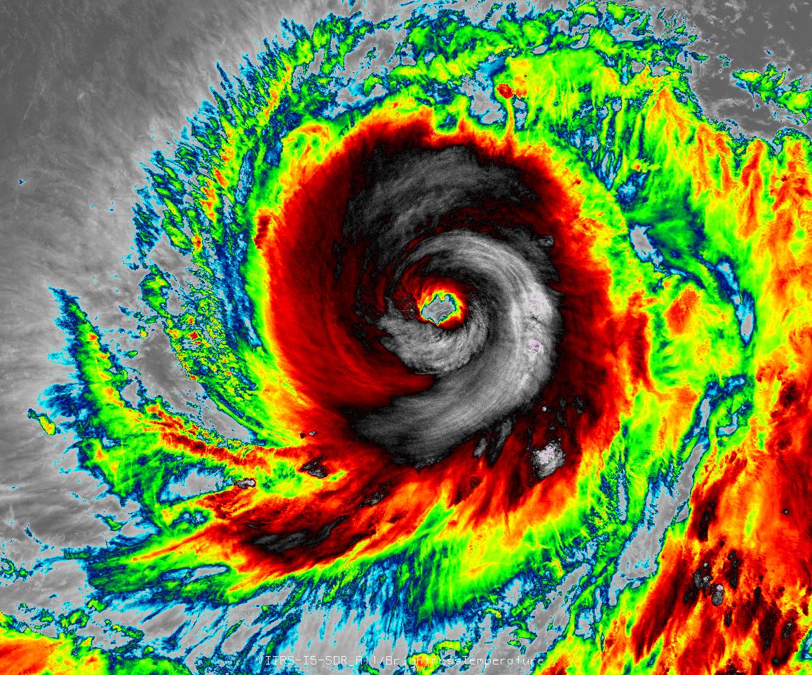 Súper tifón Vongfong el 7 de octubre, 2014