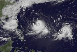 El sudeste asiático pendiente de 3 tifones